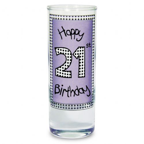 Lilac 21st Birthday Shot Glass Gift For 21st